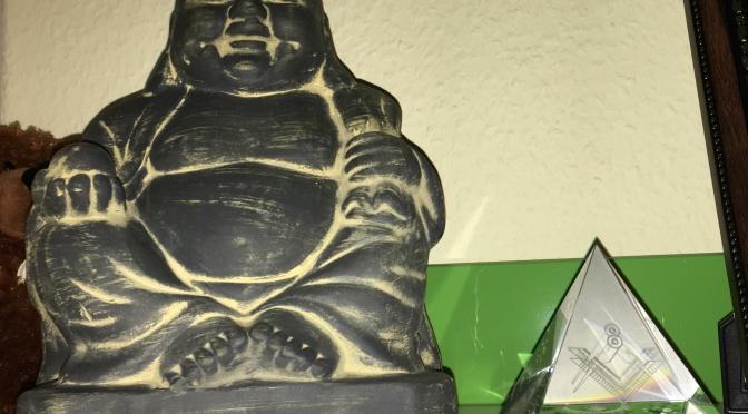 Buddha and pyramid